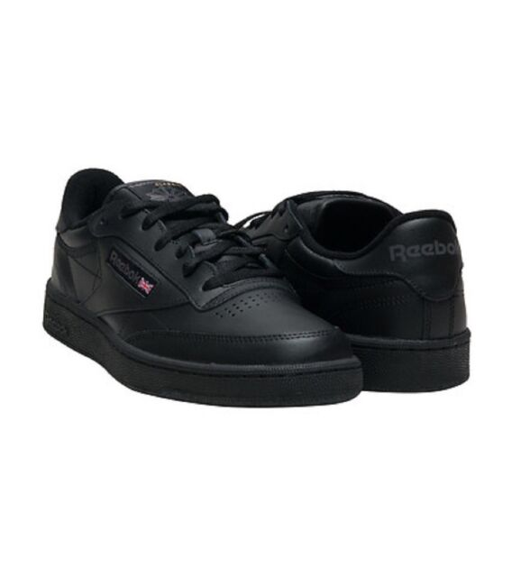 9eb6c023e80 Reebok Classic Club C 85 Black Charcoal Men s SNEAKERS Tennis Shoes ...