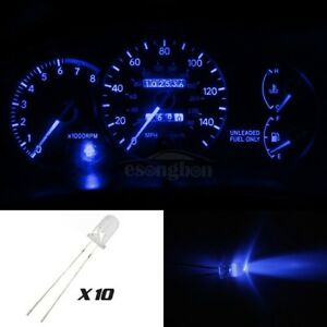 10x-Blue-LED-5mm-Light-Bulb-Kit-Gauge-Cluster-Speedometer-Miniature-For-Chevy