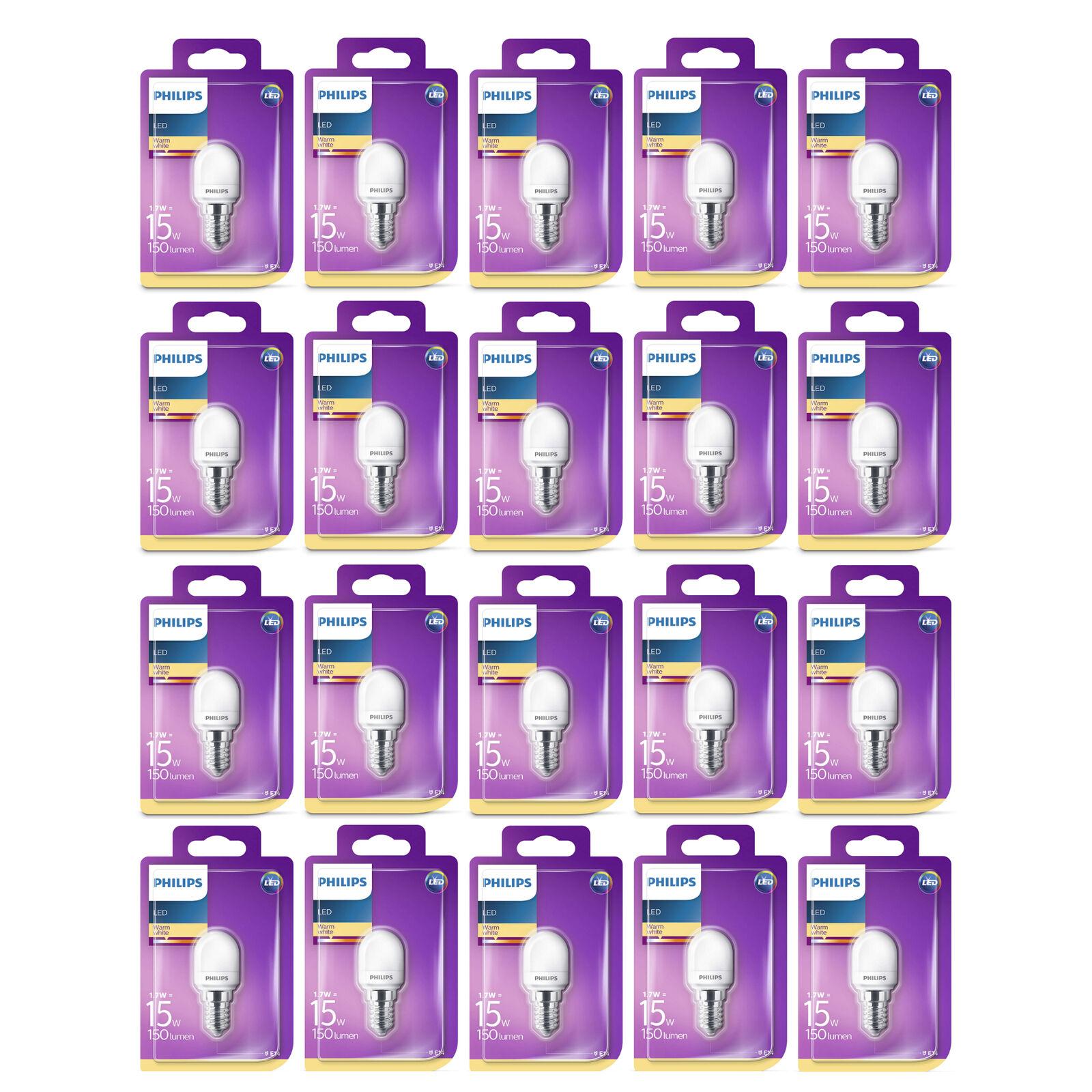 60 x Philips LED T25 Frosted E14 Edison 15W Appliance Fridge Light Bulbs 150Lm