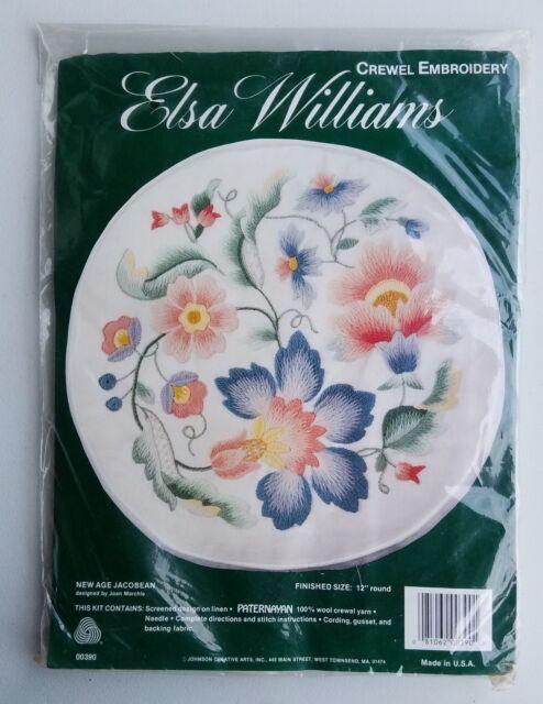 Elsa Williams Age Jacobean Flower Crewel Embroidery Kit Jca 00390 Ebay
