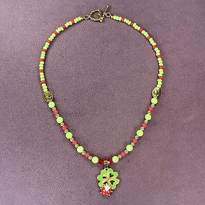 CLOVERBUG CHARM BRACELET Ladybug 4-Leaf Clover Symbol Magick Double Luck Love