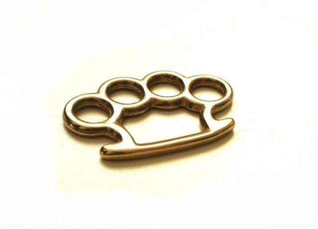 M Size / SOLID BRASS KNUCKLE DUSTER Charm Craft Hardware Keychain Ring LA Japan