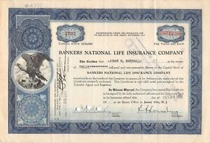 Bankers-National-Life-Insurance-company-1793-stock-certificate