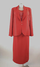 Bagatelle Kostüm 46 Dreiteiler Rock, Top, Blazer, rot elegant neu mit Etikett