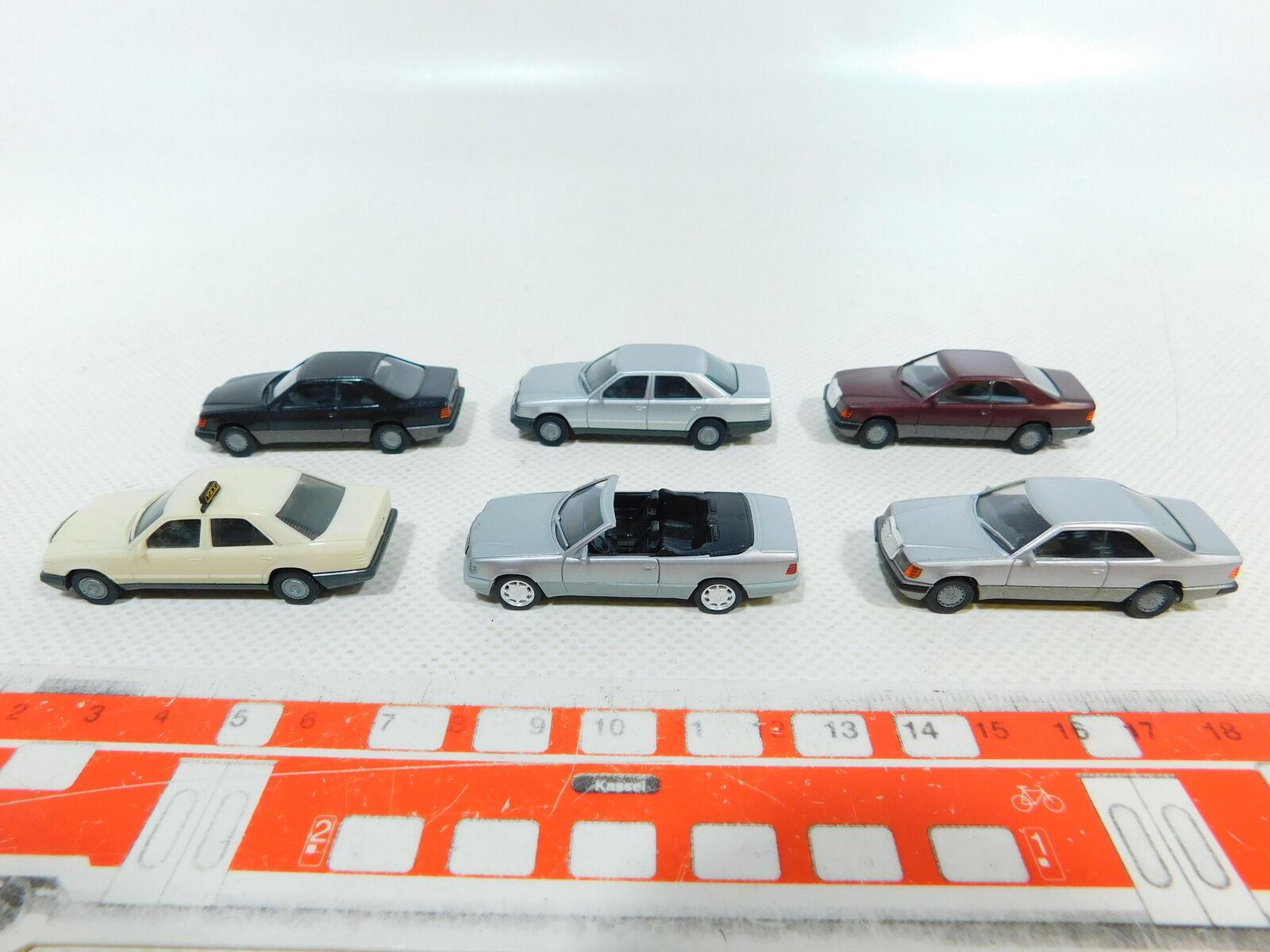 BV964-0, 5 x Herpa H0   1 87 Car Mercedes   MB  300 E Taxi etc. , Stars Broken