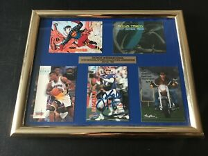 Jim Kelly 1993 Skybox National NSCC Signed Stamp COA Card Framed Superman Promo