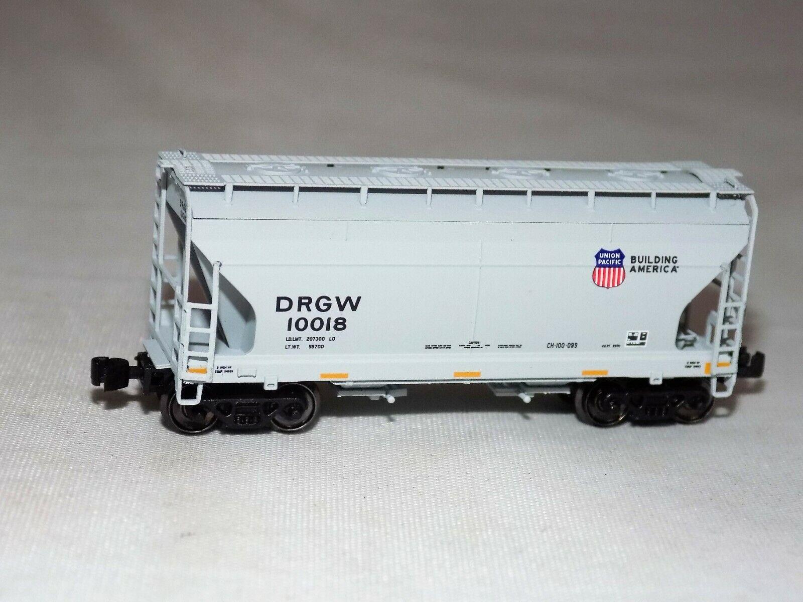 Z Escala American Z Line 903916-1 Drgw 10018 Union Pacific 2 Bay Hopper Nib
