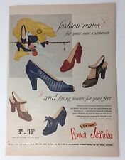 Original Print Ad 1954 ENNA JETTICKS Fashion Mates Vintage Women's Shoes