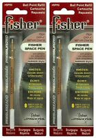 Two (2) Fisher Space Pen Burgundy Ink / Medium Point Refills / Spr5
