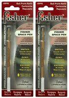 Two (2) Fisher Space Pen Burgundy Ink / Medium Point Refills / Spr5