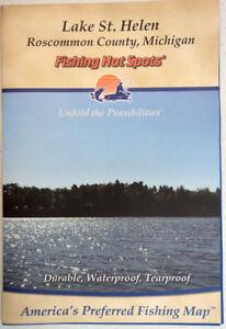 Lake St Helen Michigan Fishing Map Waterproof Depth Contours