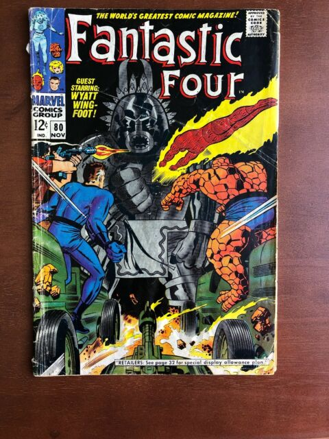 Fantastic Four #80 (1968) 4.0 VG Marvel Key Issue Comic Silver Age Tomazooma App
