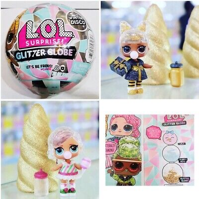 2 LOL Surprise Doll Winter Disco Series Glitter Globe Ball Holiday OMG In Hand
