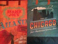 Atlanta & Chicago Trader Joe's Bags Reusable Shopping Grocery Tote Eco Bag