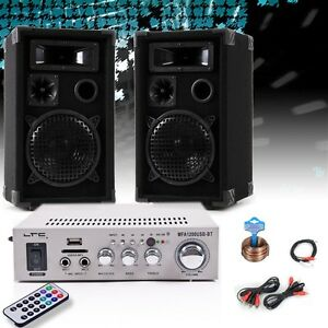 party kompakt musik anlage boxen verst rker bluetooth usb dj set fernbedienung ebay. Black Bedroom Furniture Sets. Home Design Ideas