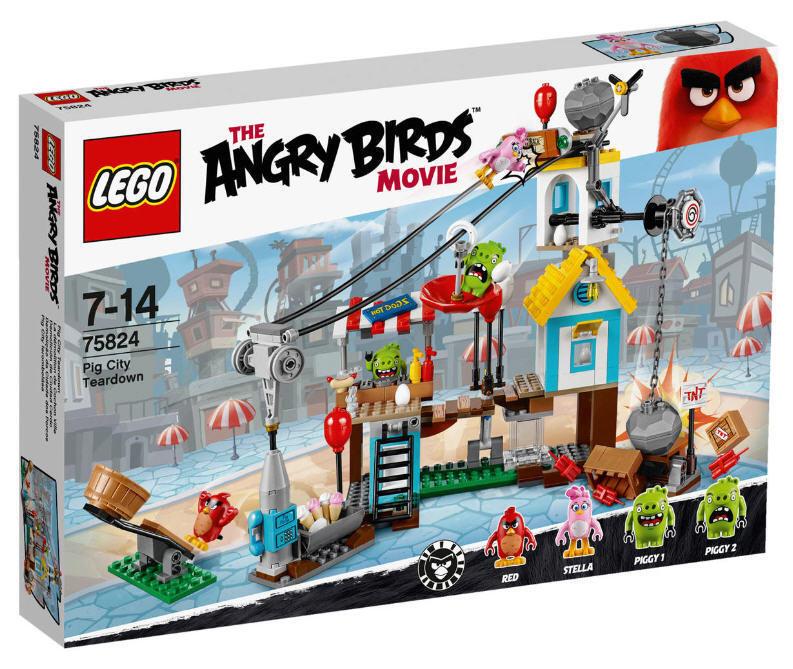 LEGO ®  Angry Birds ™ 75824 Pig città Teardown NUOVO & OVP rosso, Stella 2 maialini  il più recente