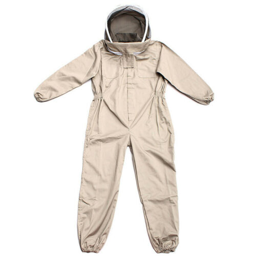 Professional Ventilated Full Body Beekeeping Bee Keeping Suit Leather Glove L