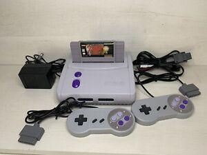 Super Nintendo JR SNES SNS-101 Console Complete With Zelda Game