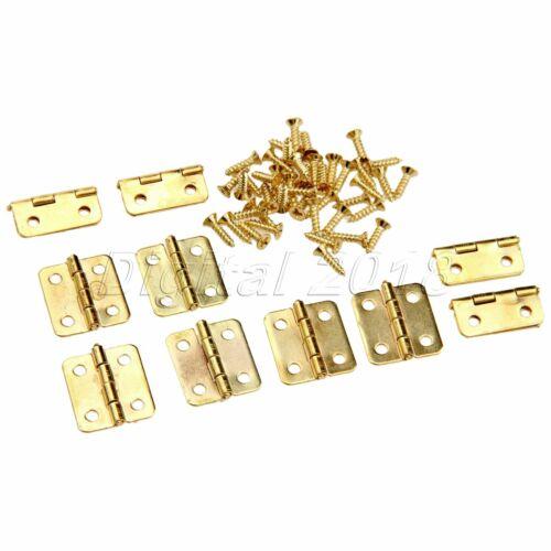50pcs Bijoux cigare Bijou Boîte minuscule Cabinet Doll House Golden Mini Charnières