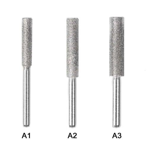 3 Diamond Chainsaw Sharpener Burr Stone File 4//4.5//5mm Chain Saw Sharpening Tool