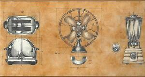 Wallpaper-Border-Retro-1950s-Style-Toaster-Desk-Fan-Blender-Diagrams-Plans