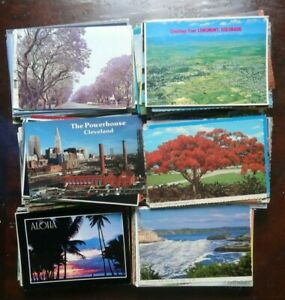 LOT-OF-50-POSTCARDS-4-X-6-CARDS-USED-WITH-STAMPS-USA-ALL-CHROME