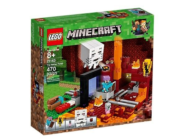 LEGO® Minecraft™ (21143) Netherportal inkl Versand Neu & Ovp