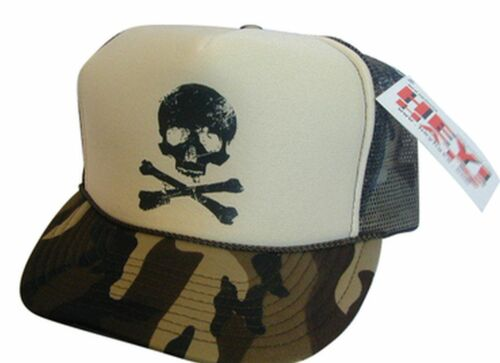 CAMO SKULL Trucker Hat mesh hat snap back hat new adjustable