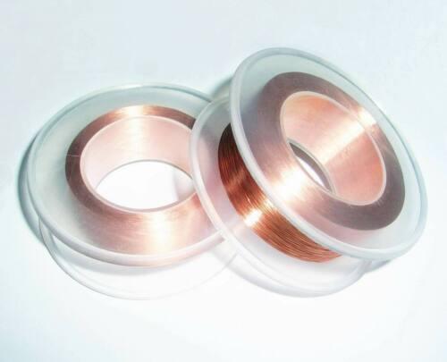 "0.18mm Gauge Enameled Copper Magnet Wire 60g 0.007087/"" 845 Feet 155℃"