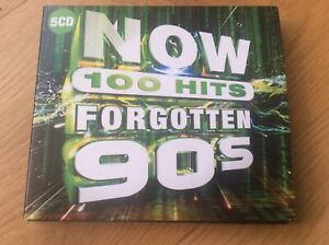 NOW-100-HITS-FORGOTTEN-90S-5-CD-Various-Artists-Released-November-1st-2019