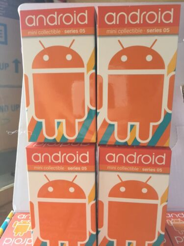 4x Blind Box Andrew Bell Android mini collectibles Series 5 3 in environ 7.62 cm