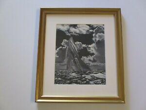 VINTAGE ANTIQUE PAINTING NAUTICAL SEASCAPE MARITIME BOAT SHIP OCEAN 1920'S OLD