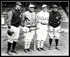 1928 Ruth Gehrig Cobb Speaker Autographed Repro Photo 8X10 - Yankees A's