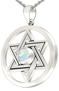 7d12ea519203 Detalles de De Mujer Plata de Ley 925 Estrella de David Ópalo Octubre  Piedra de Nacimiento