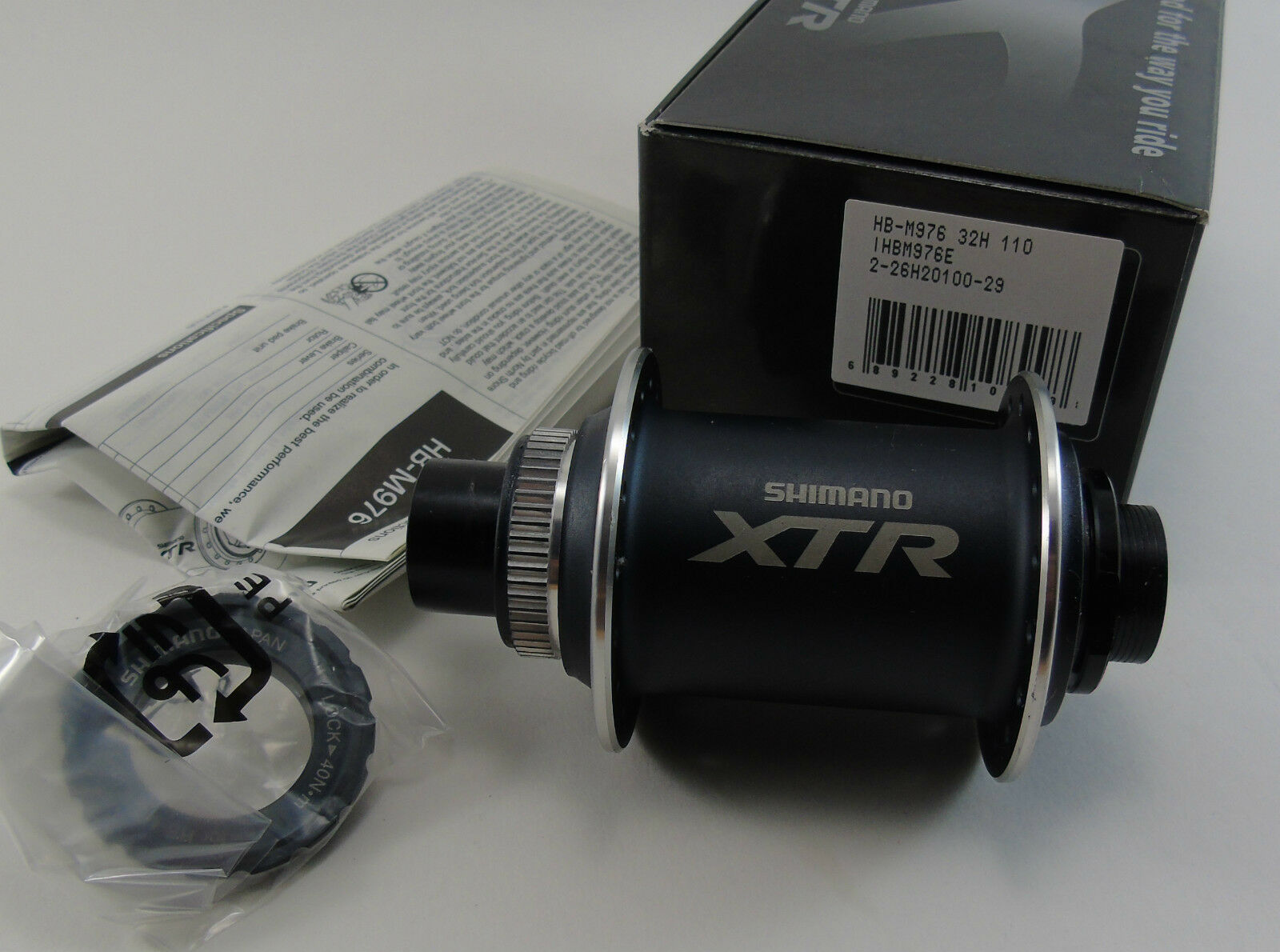 NOS SHIMANO XTR DISC FRONT HUB, HB-M976, 20x110mm, 32H, BRAND NEW IN BOX