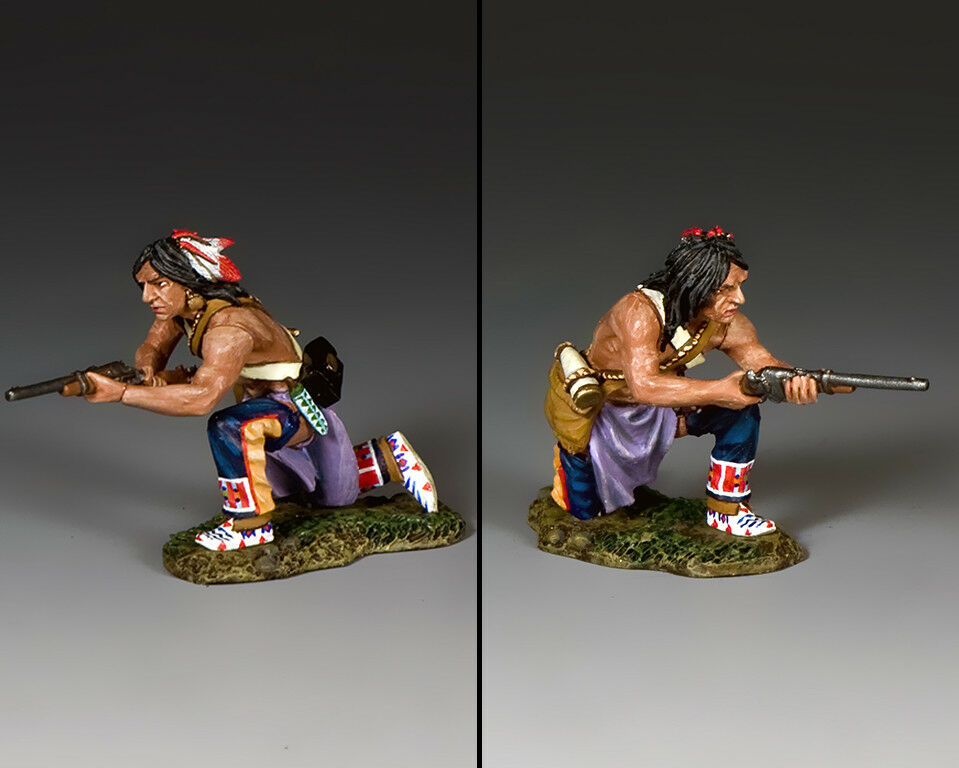 KING AND COUNTRY Kneeling Plains Indian with Carbine TRW131