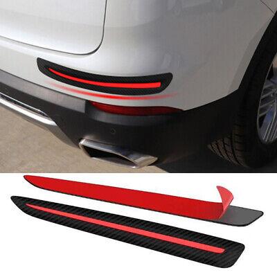 Vehicle Carbon Fiber Protector Anti Scratch Bumper Guard Strip Sticker 2PCS