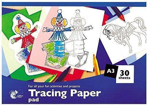 30 Sheets A3 Tracing Paper Pad - Drawing Creative Fun Activities School Art Home