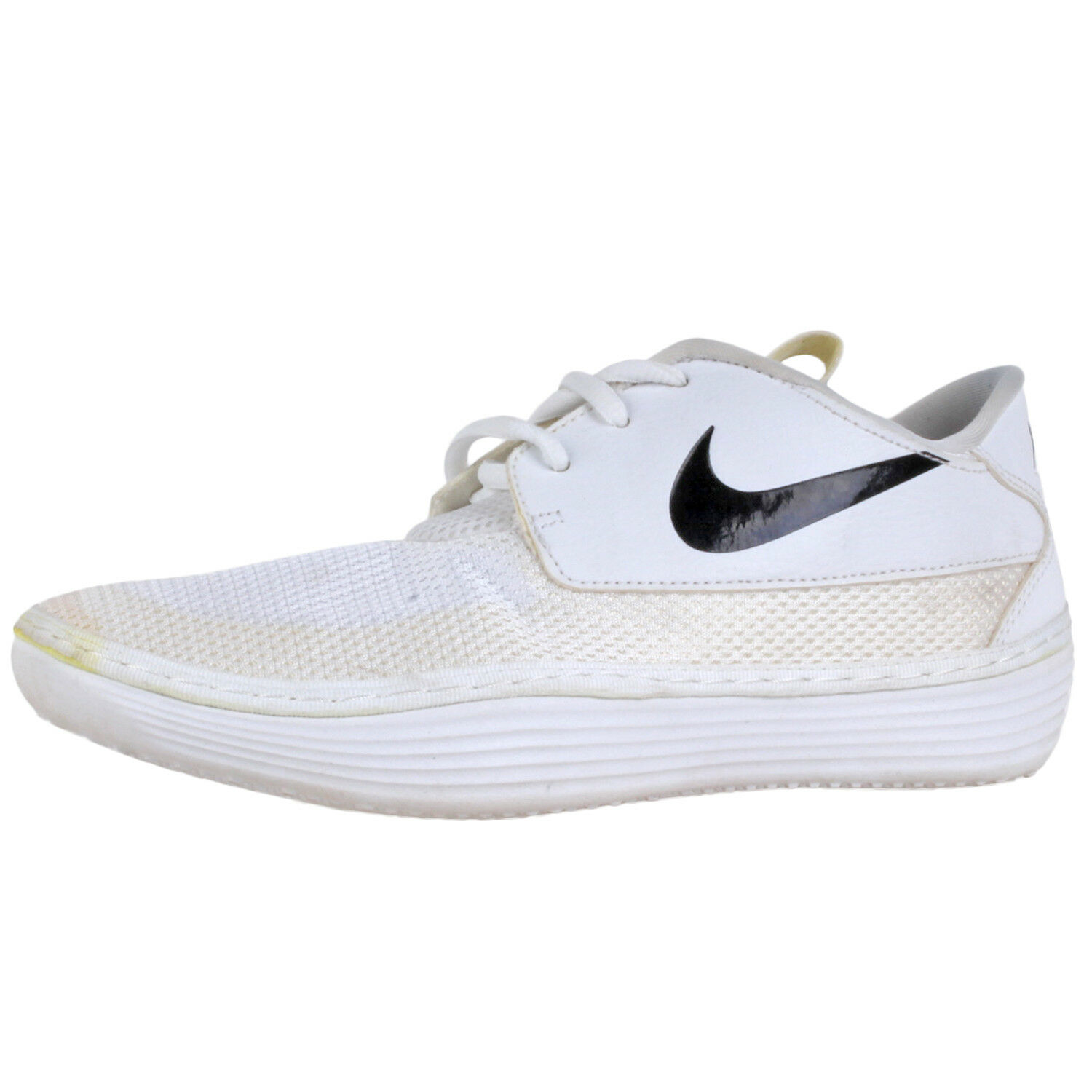 Nike Men's Solarsoft Moc 2 shoes  705518-101 Wht Sz 7