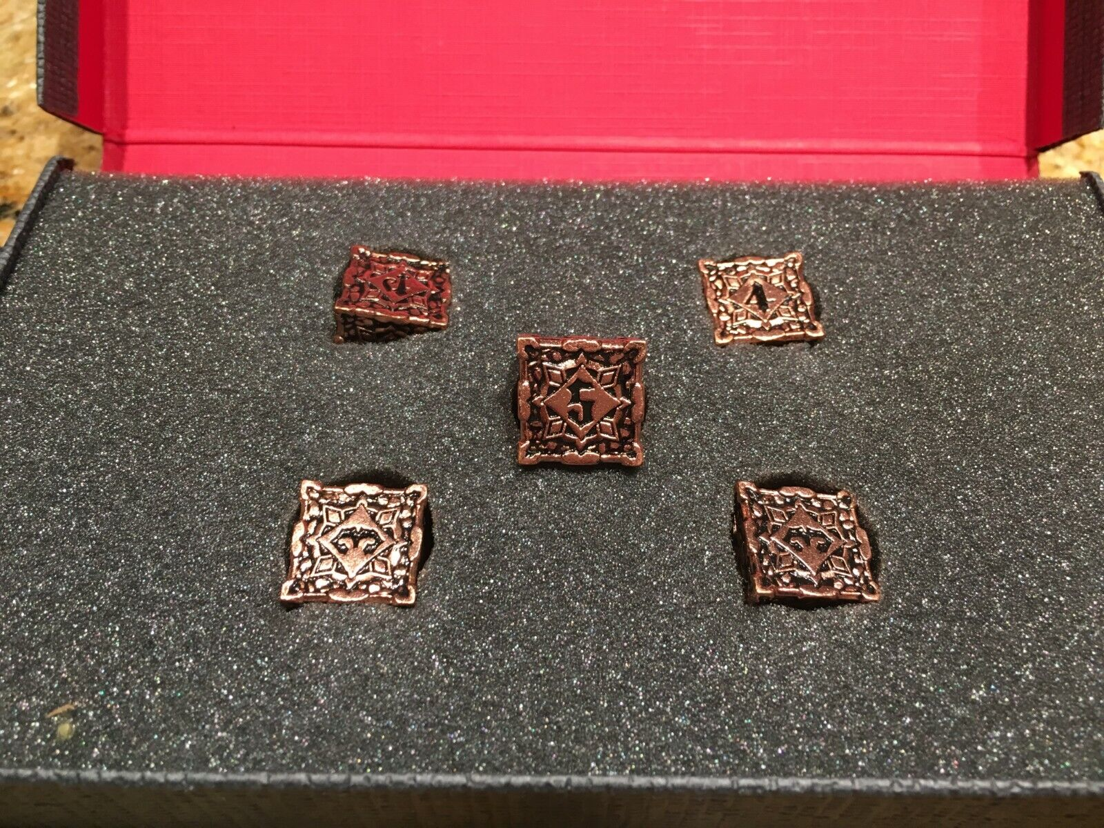 Pathfinder Copper Metal Dice Set (5 x D6)