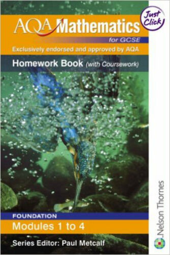 1 of 1 - AQA Mathematics for GCSE Modular Foundation Homework Book Modules 1-4, New, Marg