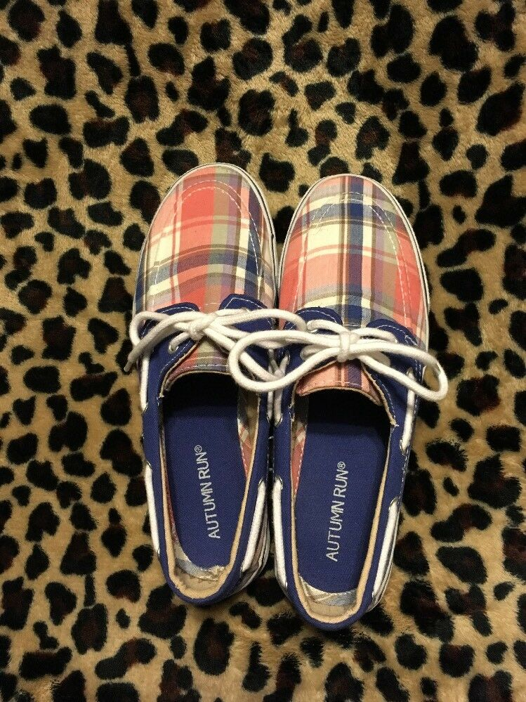 Autumn Run Plaid Women's Top Sider/Boat Really Shoes Size 6 EUC Really Sider/Boat Cute! d14a5a
