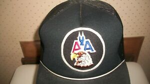 VTG American Airlines w/Eagle Mesh w/Patch Trucker Cap Snapback Aviation NWOT
