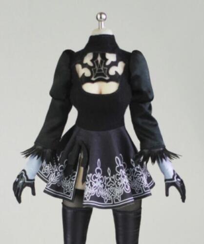 1//6 robe noire pour nier automates yorha No.2 Type B 2 A pour PHICEN figure doll
