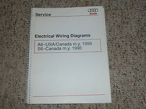 image is loading 1996-audi-a6-s6-electrical-wiring-diagrams-manual-