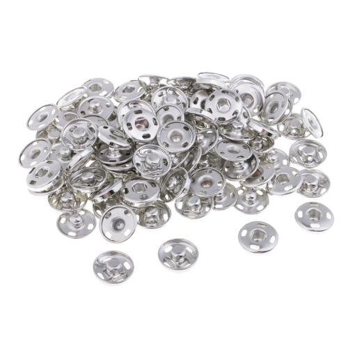 50 Sets Silber annähen Druckknöpfe Kupfer Druckknöpfe Druckknopf für