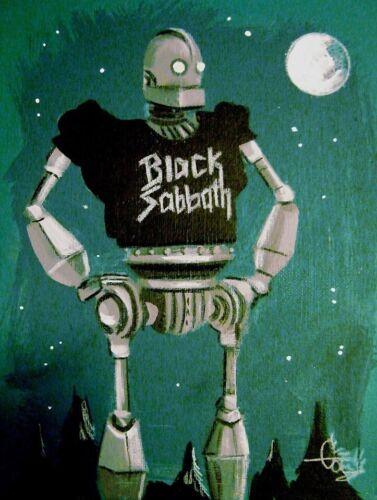 EL GATO GOMEZ RETRO IRON GIANT HEAVY METAL BLACK SABBATH ROBOT GEEK POP SCI-FI