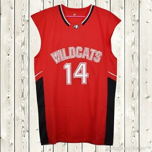 b62ed3a26 Zac Efron  14 Troy Bolton East High School Wildcats Stitched ...