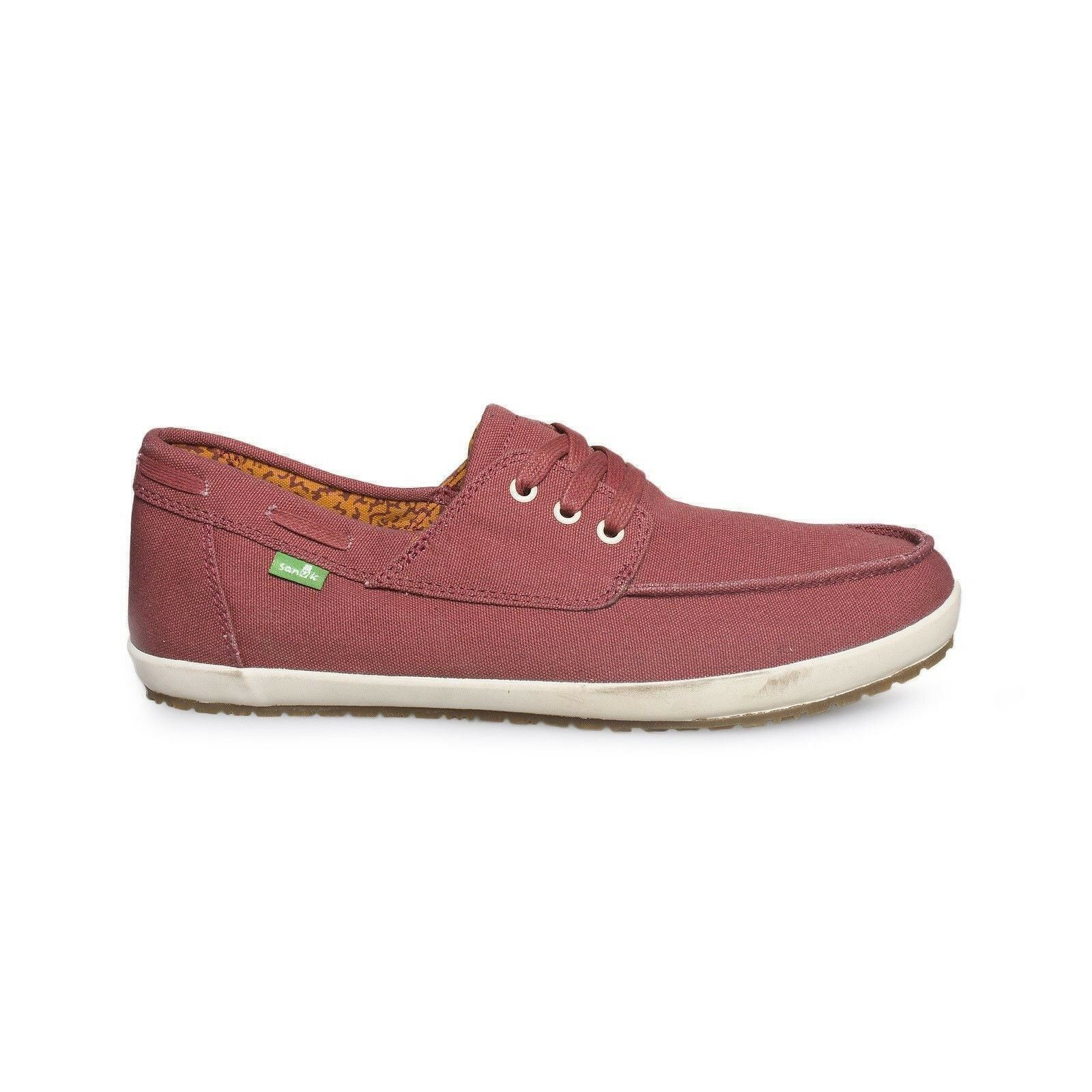 SANUK CASA BARCO DUSTY RED LOAFER CANVAS CASUAL MEN`S SHOES SIZE US 9 NEW