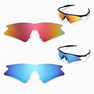 ef746a7be1e New Walleva Polarized Fire Red + Ice Blue Lenses For Oakley New M ...
